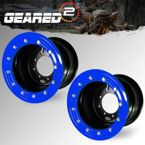 Honda 400ex Beadlocks 9X8 BLUE