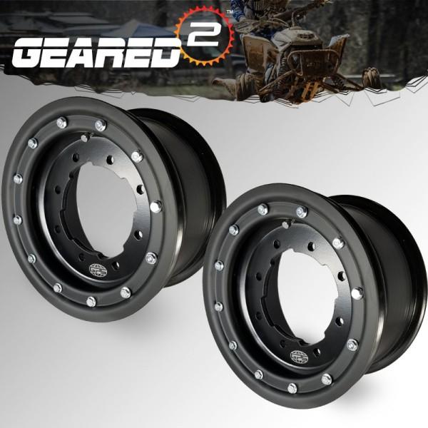 (2) 10x5 3+2 KFX450r Wheels ATV Beadlock Wheels KFX 450R